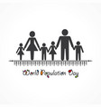 poster or banner for world population day vector image vector image