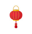 red chinese lantern of round shape decorative vector image vector image