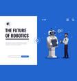 robots future design concept vector image vector image
