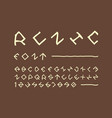 runic font alphabet vector image