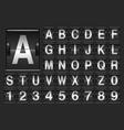 Scoreboard alphabet vector image vector image