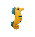 sea horse plasticine composition vector image vector image