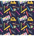 seamless pattern stationery for school vector image