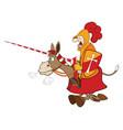 set of cartoon cute donkeys vector image vector image