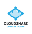 Share Cloud Design vector image vector image