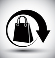 Shopping bag delivery simple single color icon vector image vector image