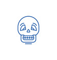 skull line icon concept skull flat symbol vector image