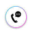 sos call icon isolated on white background vector image vector image