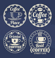 stylish coffee labels design for cafe shop vector image