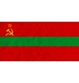 Transnistria paper flag vector image vector image