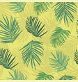 tropical background palm tree leaf seamless vector image