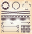 Vintage style ornate design ornaments and page vector image