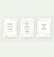 wedding invite invitation save date card vector image