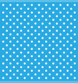 white dots on blue backgrond in flat design vector image