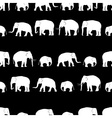 white elephants walking black pattern vector image vector image