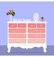 with chest of drawers vector image vector image