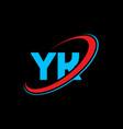 yk y k letter logo design initial letter yk vector image vector image