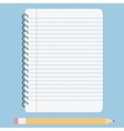 blank lined notebook vector image