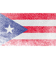 Flag of Puerto Rico with old texture vector image