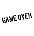 Game Over rubber stamp vector image