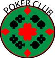 Poker club logo vector image