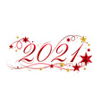 2021 happy new year lettering banner design with vector image vector image