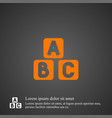 abc cube icon simple vector image vector image