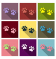 animal footprint isolated on background dog paw vector image vector image