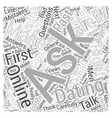 Ask the Right Questions First Word Cloud Concept vector image vector image