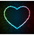 Background with glowing heart-shape vector image vector image