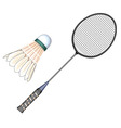 Badminton- badmington equipment vector image