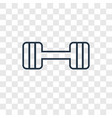 barbell concept linear icon isolated on vector image vector image