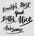 better and awesome typography vector image