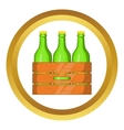 Box of beer icon vector image vector image