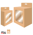Box Packaging Design Packaging Box for Brown Paper vector image vector image