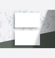 business card mockup top lighting shadows overlay vector image vector image
