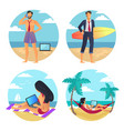 business summer people beach vector image vector image