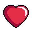 cartoon heart romantic love decoration symbol vector image