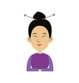 character woman cartoon japanese oriental clothing vector image vector image