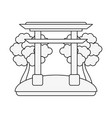 chinese portal symbol vector image vector image