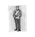 Civil War Soldier vector image vector image