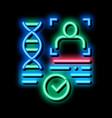 confirmation dna file neon glow icon vector image vector image