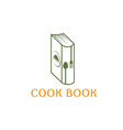 cook book design template vector image vector image