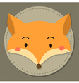 Cute Fox Head Cartoon vector image
