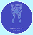 dental clinic tooth logo vector image vector image