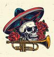 dia de los muertos colorful concept vector image vector image