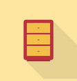 drawer icon set of great flat icons use for vector image vector image