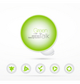 ecology buttons vector image vector image
