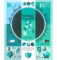Ecology Infographics Set vector image vector image