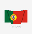 flag of portugal flat icon waving flag with vector image